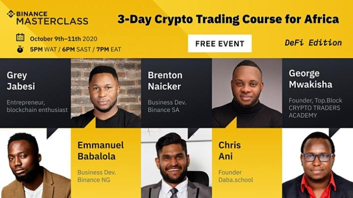 Binance, the world's largest cryptocurrency exchange is running a​ FREE​ three-day crypto trading masterclass (with a focus on DeFi)
