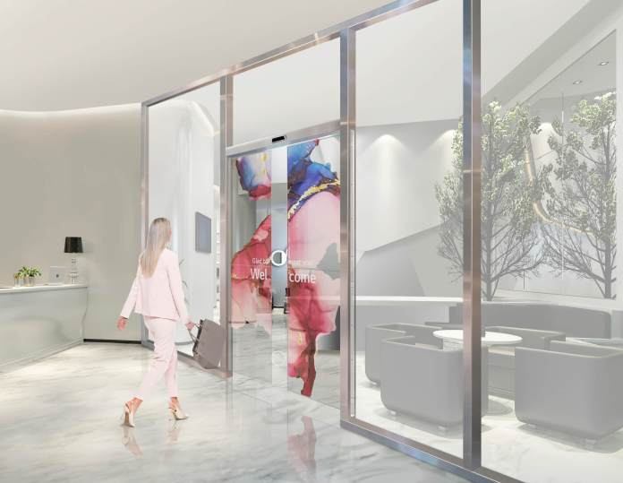 LG is developing a high-tech transparent OLED door