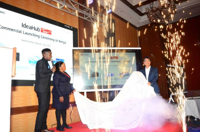 Huawei today launched the IdeaHub series of products in Kenya — The IdeaHub is a productivity tool for the smart office & learning institutions which bundles intelligent writing, High Definition (HD) video conferencing, and wireless sharing.