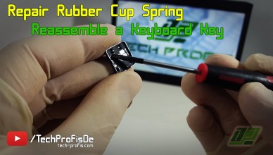 Laptop Keyboard Repair - Rubber Cup Spring fix MSI Medion Akoya