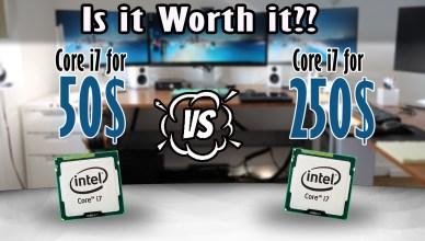 Is it worth it Comparing a 50$ i7 CPU against a 250$ i7 CPU i7-870 i7-4790K