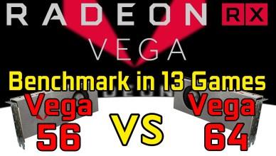 Radeon RX Vega 64 vs RX Vega 56 Benchmark Test in 13 Games @1440p @2160p (i7-6800K)