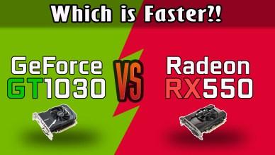 GeForce GT 1030 vs Radeon RX 550 Test in 8 Games (Core i3-4130)