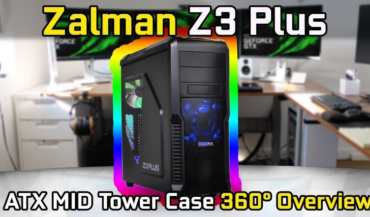 Zalman Z3 Plus ATX Mid Tower Case with Side Window 360° Overview (No Commentary)