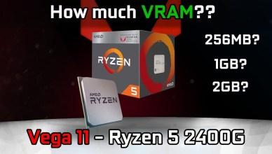 Does VRAM matter Vega 11 (Ryzen 5 2400G APU)
