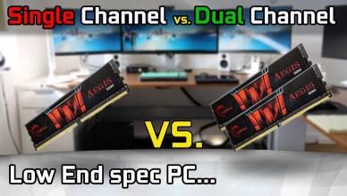 Dual Channel vs Single Channel DDR4 RAM 2x4GB vs. 1x8GB Low End CPUGPU Gaming