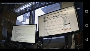 ウェブカメラ画像 モニター 中画質