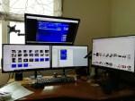 PCにグラフィックボードを増設して4台マルチモニター化