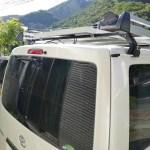 Improve the fixture of HIACE VAN solar panel