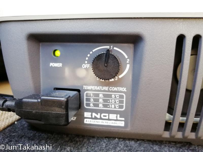 炎天下でのエンゲルポータブル冷蔵庫冷え具合テスト