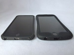 Survivor Core(Left) and Survivor Slim(Right): Front Bottom Side by Side View