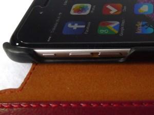 Verus Dandy Layered Wallet Case: Volume Button Detail