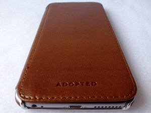 Adopted Saddle Leather Folio for iPhone 6 Plus: Front Closed View