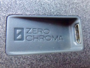 ZeroChroma Keyboard Slide-Lid Case for iPad Air and Air 2: Charging Port Closeup