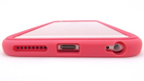Rhino Shield Crash Guard in Coral Pink- Bottom Port Opening View