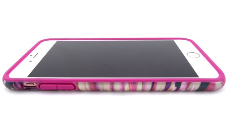 Speck CandyShell Inked Luxury Edition in Hypnotic Bloom and Fuchsia Pink- Front Side View