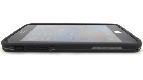 LifeProof FRE in Black for iPhone 6s Plus- Front Side View