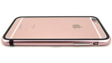 Moshi iGlaze Luxe in Rose Pink for iPhone 6s Plus- Back Side View