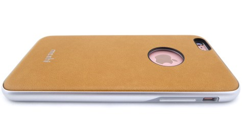 Moshi iGlaze Napa in Caramel Beige for iPhone 6s Plus- Back View