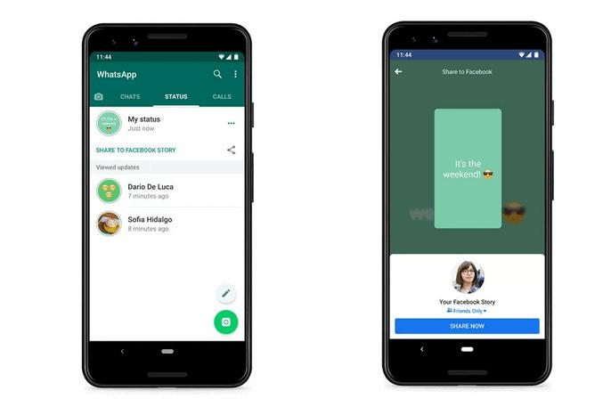 قريباً ستتمكن من مشاركة حالتك في WhatsApp إلى Facebook وتطبيقات أخرى.