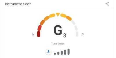 tune your guitar using google search