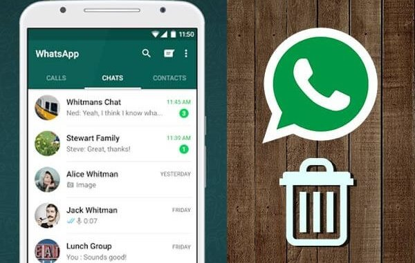 delete a contact from WhatsApp