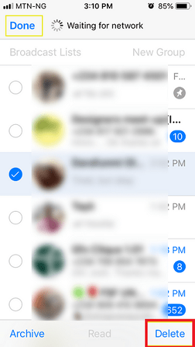 How to delete WhatsApp contacts on iPhone