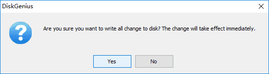 are you sure you want to write all change to disk