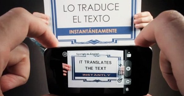 Use the camera to translate