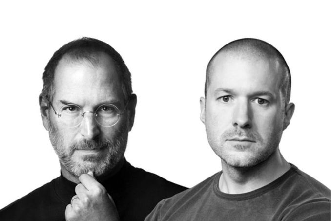 Picture of Steve Jobs and Johnny Ive