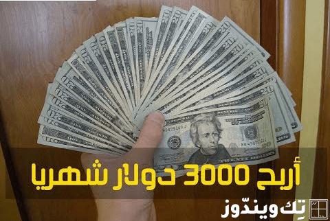 كيفية ربح 3000 دولار شهرياً من الإستثمار