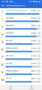 Antutu - OnePlus 6