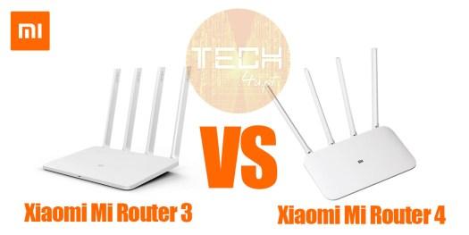 Xiaomi-Mi-Router 3 vs 4