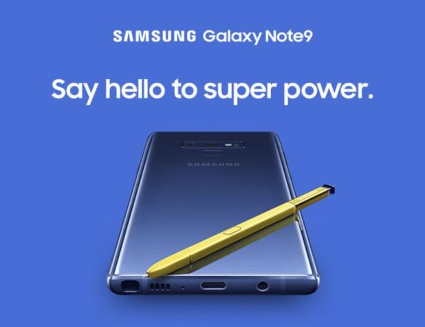 Samsung Galaxy Note 9 - Super power