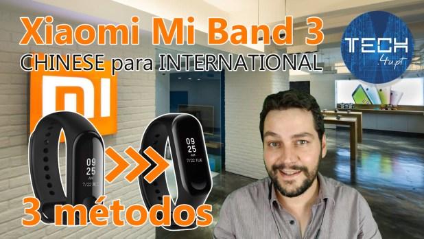 Xiaomi Mi Band 3 - 3 métodos para altera-la para Inglês