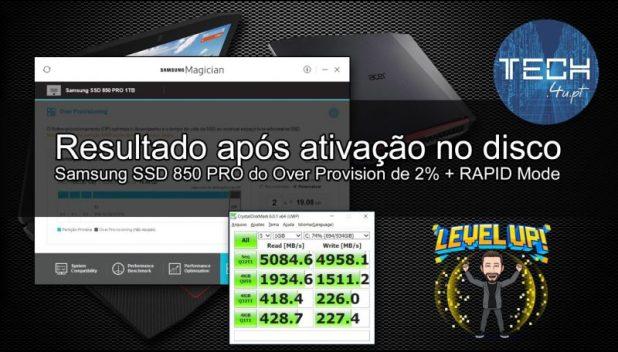 Samsung 850 Pro com Rapid Mode e Over Provisioning