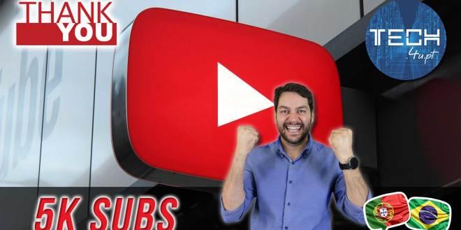 5000 subscritores no Youtube