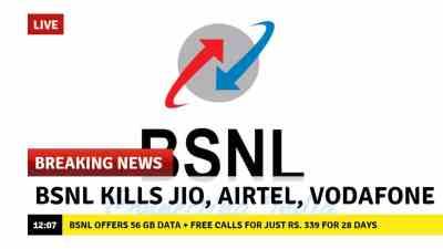 BSNL offers 56 GB data