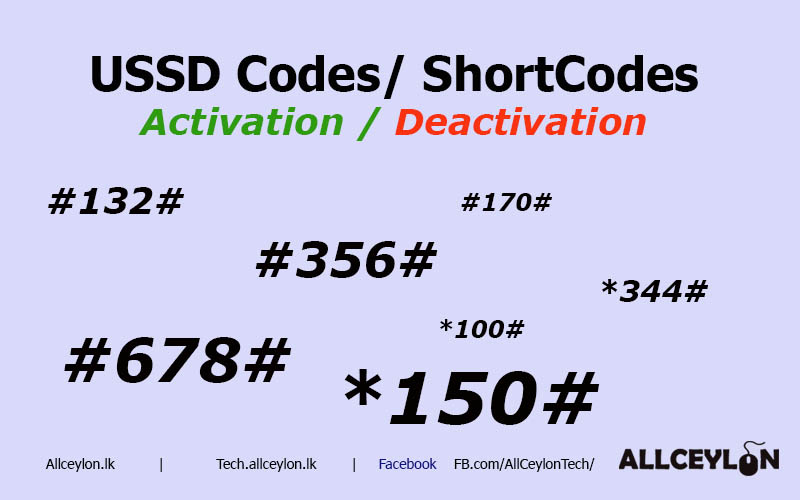 Mobitel USSD Codes ( Short Code) and SMS Activation