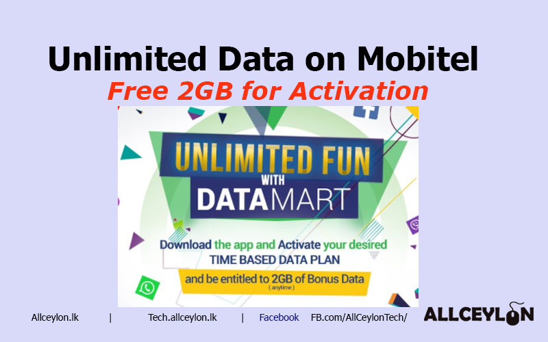 FREE 2GB Mobitel Data with DataMart +Unlimited Data - Tech