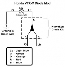 VTX 1800C Diode Fix « Bareass Choppers Motorcycle Tech Pages