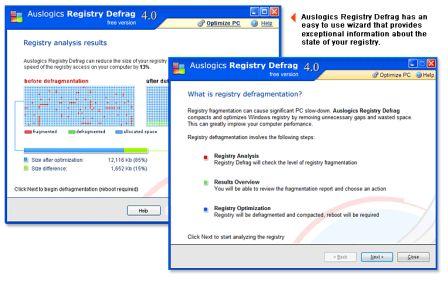 Defraging the registry screen shot