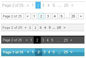 WP Page Numbers sample navigation bar sreen shot