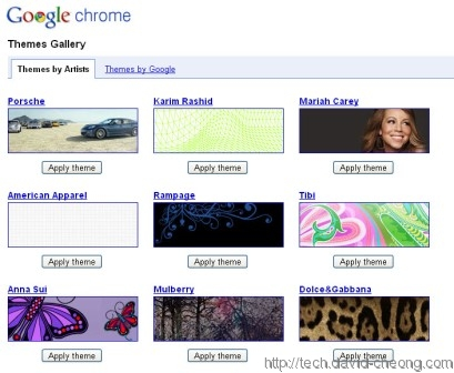 Google chrome themes design by invited artists