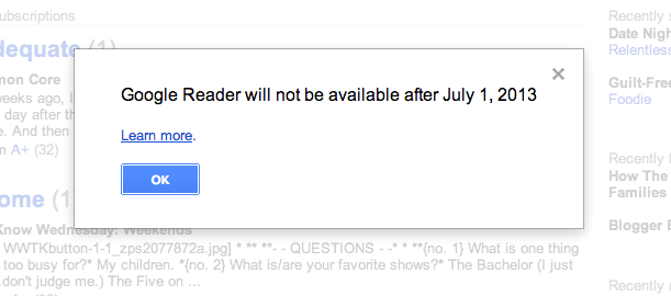 Google Reader Retire
