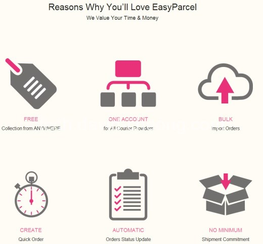 Reason to use easy parcel