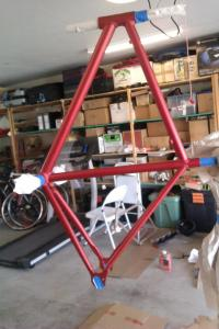 1 - unpainted red frame