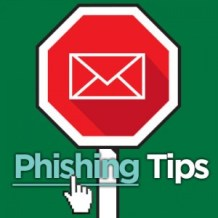 SecureIT phishing tips stop sign graphic.