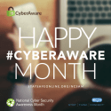Happy #CyberAware Month
