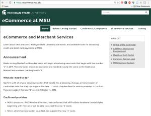 screen shot of eCommerce website
